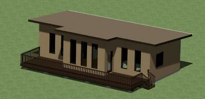 Small Modern Style House Plans Model 778 with Front Deck*