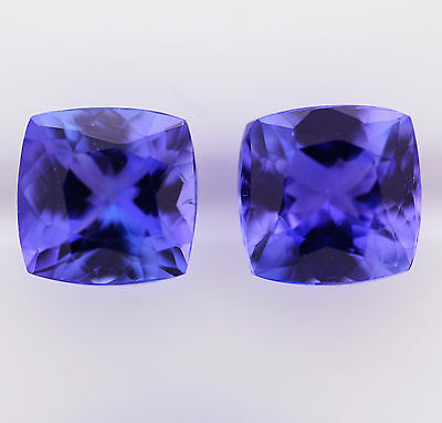 3.56ct!! NATURAL TANZANITE PAIR EXPERTLY FACETED IN GERMANY +CERT AVAILABLE