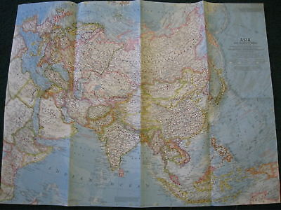 1959 Asia National Geographic Map