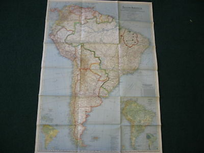 1942 South America National Geographic Map