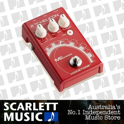 TC Helicon Mic Mechanic 1 Vocal Toolbox Effects Pedal *BRAND NEW*
