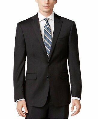 Calvin Klein X Slim Fit Suit 100% Wool Solid Charcoal MBYR25FY0071
