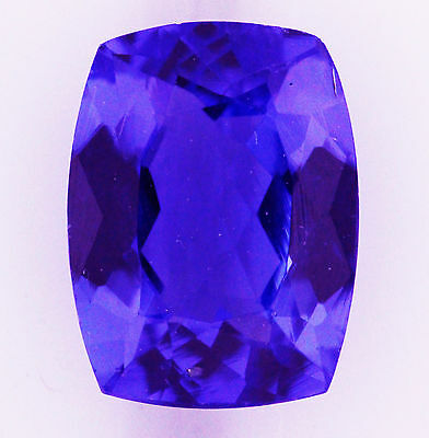 NATURAL 2.95ct!! TANZANITE EXPERTLY FACETED IN GERMANY +CERTIFICATE INCLUDED