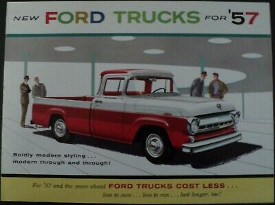 1957 Ford Trucks Courier Ranchero Pickup Parcel Delivery Full Line Sale Brochure