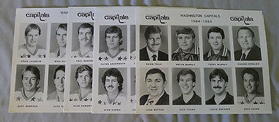 Original Lot of 4 NHL Washington Capitals 1984-85 Hockey Press Photos