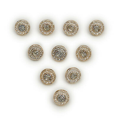 50pcs Gold Round Shank Resin Buttons Decor Sewing Scrapbooking Home 13mm