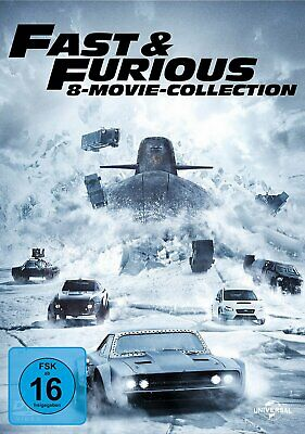 Fast & Furious 1+2+3+4+5+6+7+8 - Movie Collection # 8-DVD-BOX-NEU