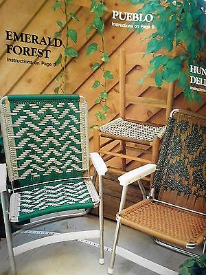 Macrame Lawn Chair PATTERNS: seats; 15 geometric designs