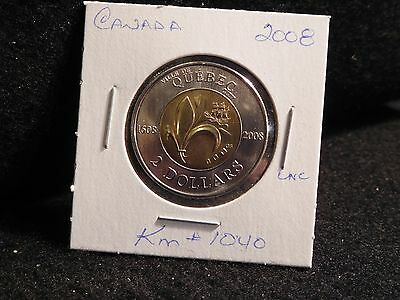 Canada: 2008 Quebec City  2 Dollar   Coin Specimen (Unc)  (#4)  Km #1040