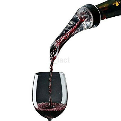 1x Black Wine Aerator Pourer Aerating Pourer Decanter Kitchen Home Parties CA