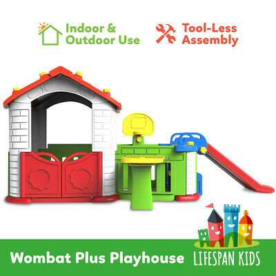 NEW Cubby House Kids Indoor Outdoor Wombat Plus Playhouse