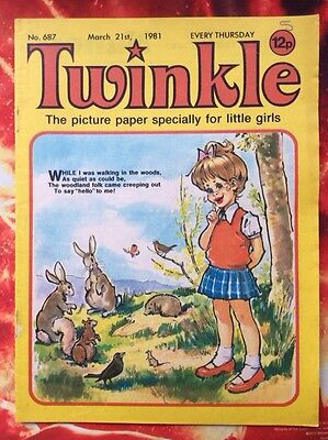 TWINKLE  COMIC NO. 687. 21 MARCH 1981. Excellent Condition.  Puzzles Not Done.