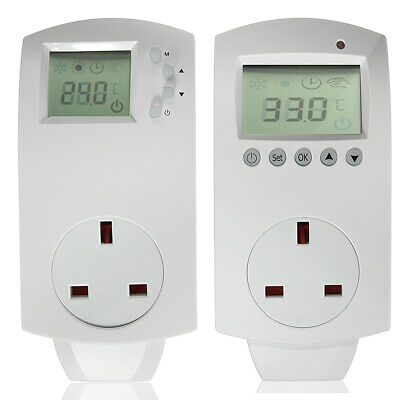 Plug In Thermostats Electric Controllers Digital And Analogue Heating Cooling