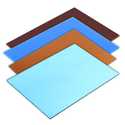 Colours Acrylic Perspex Sheet Plastic Material Panels Cut to Size A6 A5 A4 New