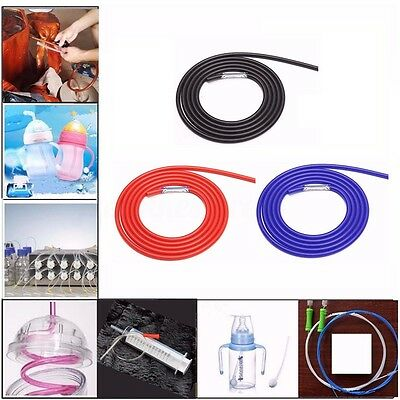 2m 2-25mm Silicone Vacuum Hose Rubber Tube Pipe Water Air Coolant Dump Oil Turbo