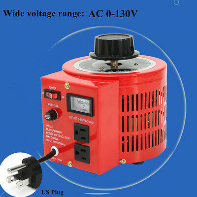 2000VA 20Amp AC 110V 60Hz Auto Variac Variable Transformer Voltage Regulator Red