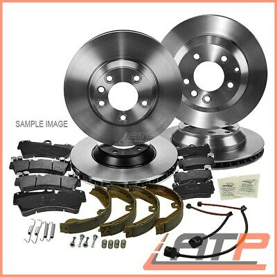 4x BRAKE DISC VENTED+SOLID +PADS FRONT+REAR+SHOES MERCEDES VIANO W639 VITO W-639