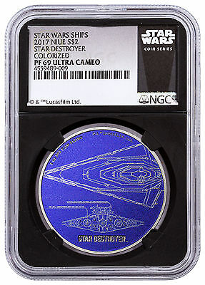 2017 Niue Star Wars Ships Destroyer 1 oz Silver $2 NGC PF69 UC Black SKU48172