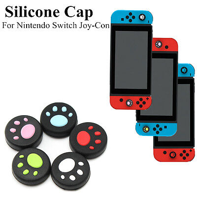 Silicone Thumb Grip Stick Cap Cover Skin Dog Paw For Nintendo Switch Joy-Con