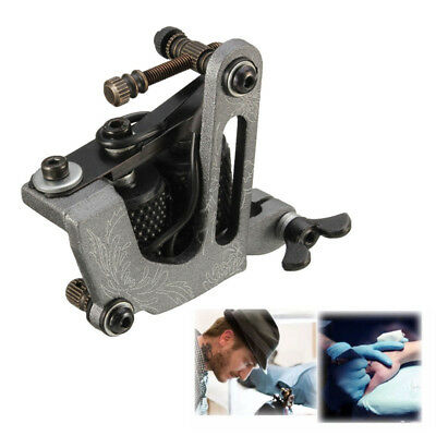Black Aluminum Tattoo Machine For Shader Liner 10 Wrap Coils Lightweight Stable