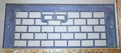 """Vintage Cast Iron Floor To Wall Grate 19-3/8"""" x 7½"""" Decor - Steampunk"""