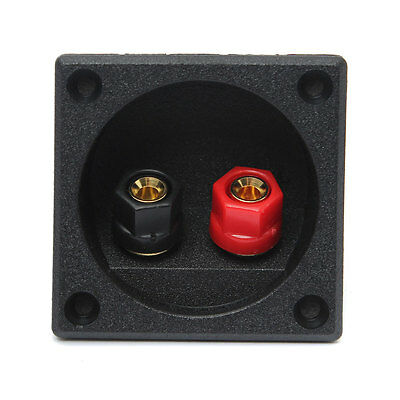 New Square Board Binding Post Speaker Box Terminal Cup Wire Cable Box Connector