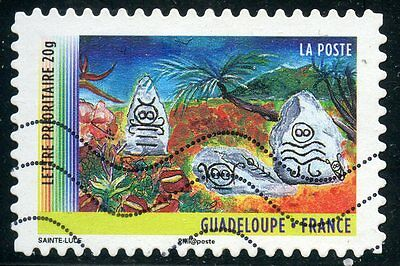 Timbre France Autoadhesif Oblitere N° 636 / Annee Des Outre Mer / Guadeloupe