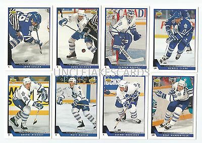 1993-94 UPPER DECK TORONTO MAPLE LEAFS Select from LIST SERIES 2 HOCKEY CARDS