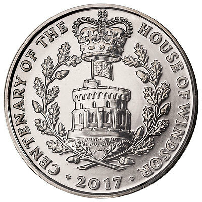 2017 Great Britain Centenary: House of Windsor Clad £5 BU Coin In OGP SKU47779