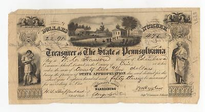 1853 Treasurer of the State of Pennsylvania