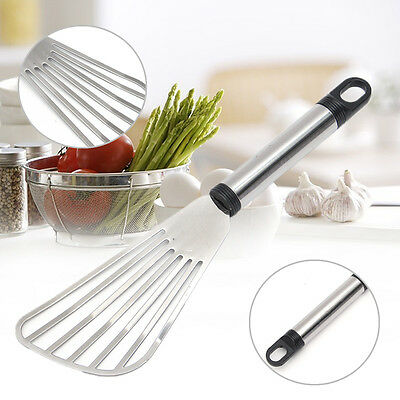 Stainless Steel Wok Turner Spatula Shovel Tools Cooking Frying Grill Fish Steak