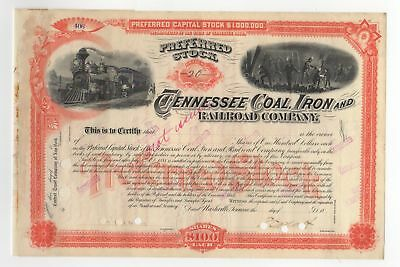 18-- Tennessee Coal, Iron and Railroad Company Stock Certificate