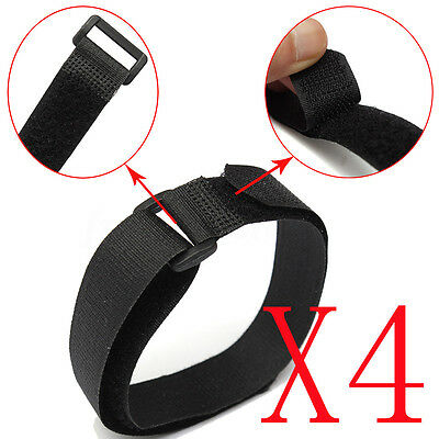 4 pcs 20x450MM Nylon Tie Down Straps Cam Buckle Wrap Band luggage Strap Black