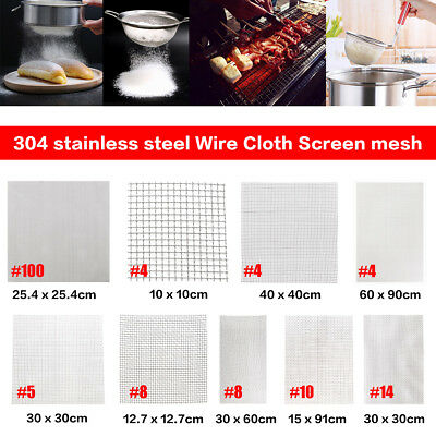 Barbecue Stainless Steel Woven Wire Mesh Fine Filter Square Sheet 4~100 Grill