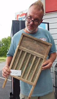 Antique National Washboard Company No.801 Brass King Chicago Saginaw Memphis #6