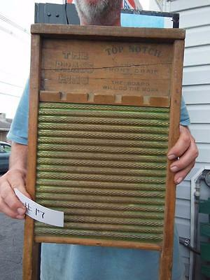 Antique National Washboard Company No.801 Brass King Chicago Saginaw Memphis #17