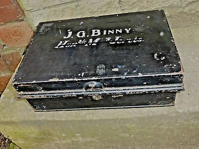 Vintage Deed Cash Metal Strong Box Honourable Ms Jervis Lloyds Bank