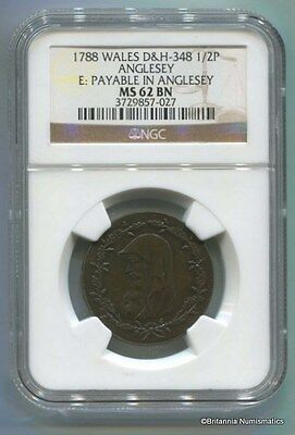 GREAT BRITAIN Anglesey Conder 1/2d Dalton & Hamer 348 NGC MS62BN  Inv 1694