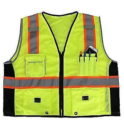 First Class Reflective Safety Vest With Pockets (2XL/3XL) New