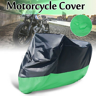 XXL Motorcycle Waterproof Cover Motorbike Bike Rain Vented Protective Green