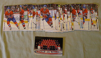 Original Lot of 27 NHL 2014-15 Montreal Canadiens Hockey Postcards Set