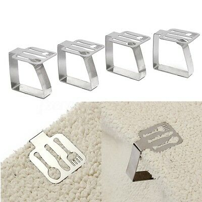 4 Stainless Steel Fork Spoon Adjusting Tablecloth Clips Holder Cloth Clamp Party
