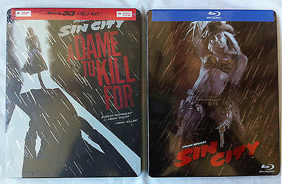 Sin City & Sin City: A Dame to Kill For Blu-ray Steelbook lot Limited 3D NEW