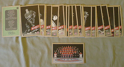 Original Lot of 26 NHL 2015-16 Montreal Canadiens Hockey Postcards Set