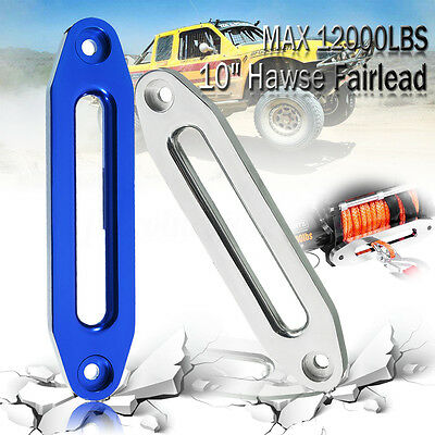 254 mm New Car Hawse Aluminum Fairlead For Winch Rope Guide Offroad 4WD