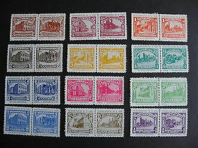 NICARAGUA 12 different 1931 Terremoto unissued MNH pairs, check them out!