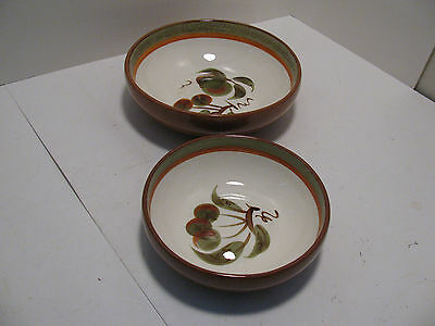 """Stangl Pottery USA """"Orchard Song"""" Bowls - Set of 2"""