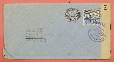 Italy Milan 1.25L Train #412 On Wwii Censored Cover To Usa