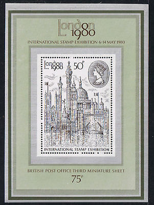 Great Britain #909a 50 pence London Stamp Exhibition 1980 SOUVENIR SHEET MNH
