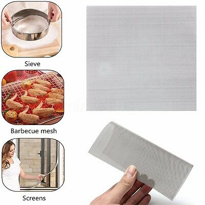 Stainless Steel Woven Wire Mesh (Filter Grading Sheet) 15cm x 15cm 4 to 60 Mesh